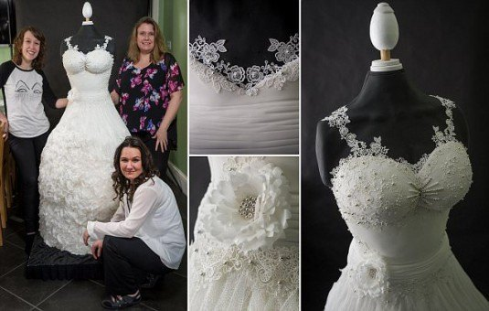 Life size wedding dress cake called the Weddible dress cake