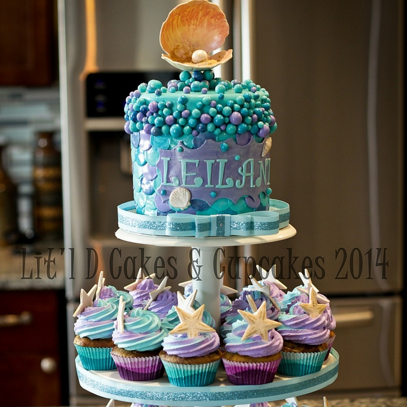 Seashell and Star Fish Themed Cake