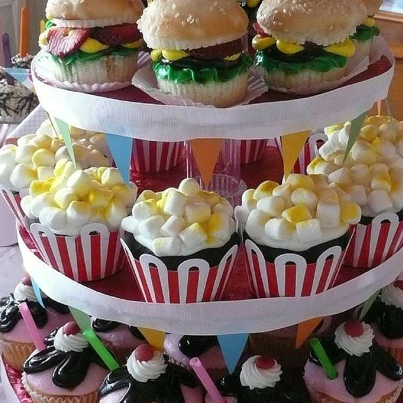 Junk food cupcake