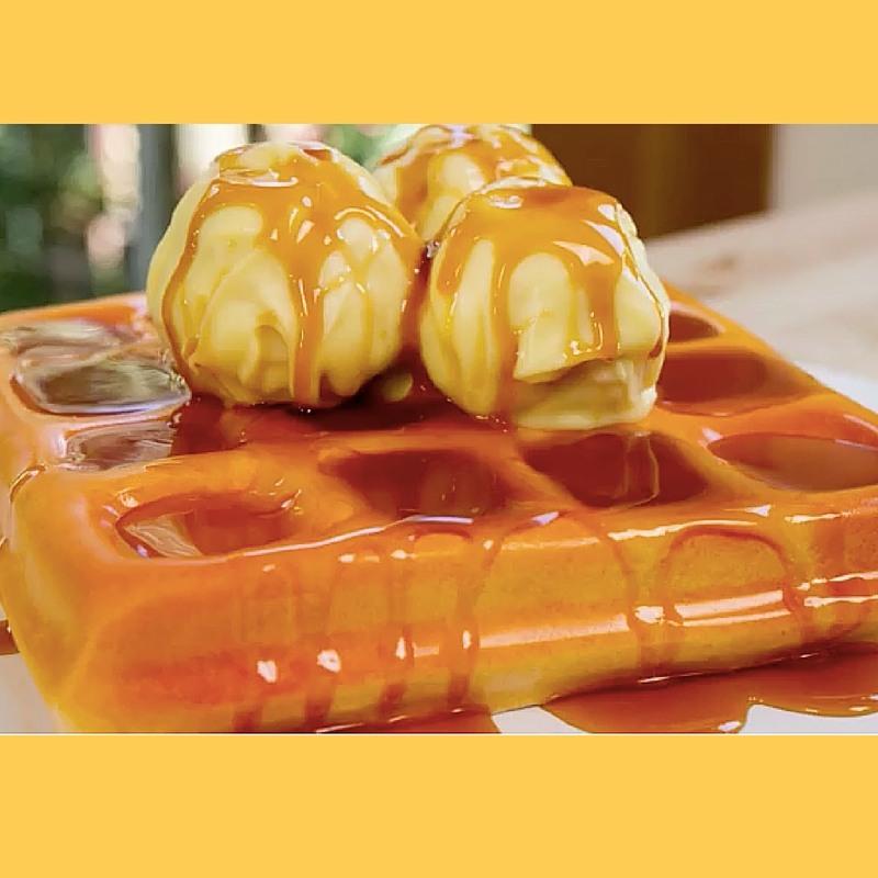Waffle and Ice Cream Cake