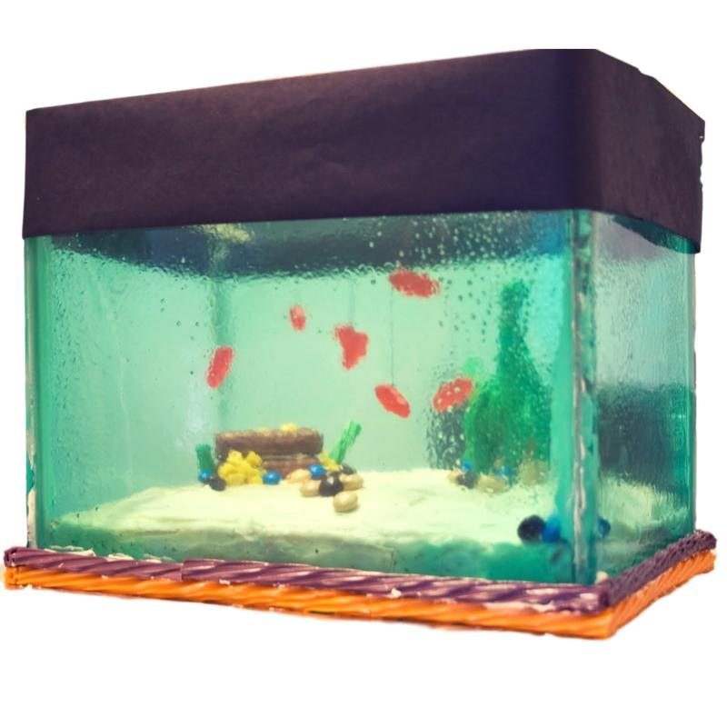 Unbelievably cool aquarium cake