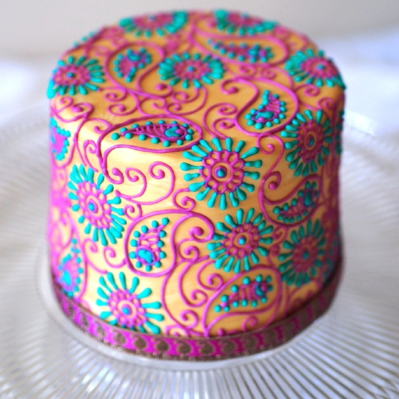 Bollywood inspired colorful cake design