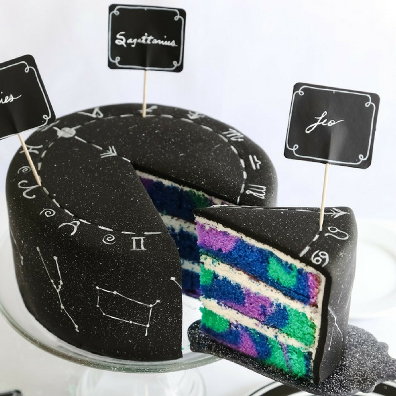 Zodiac Constellation Cake