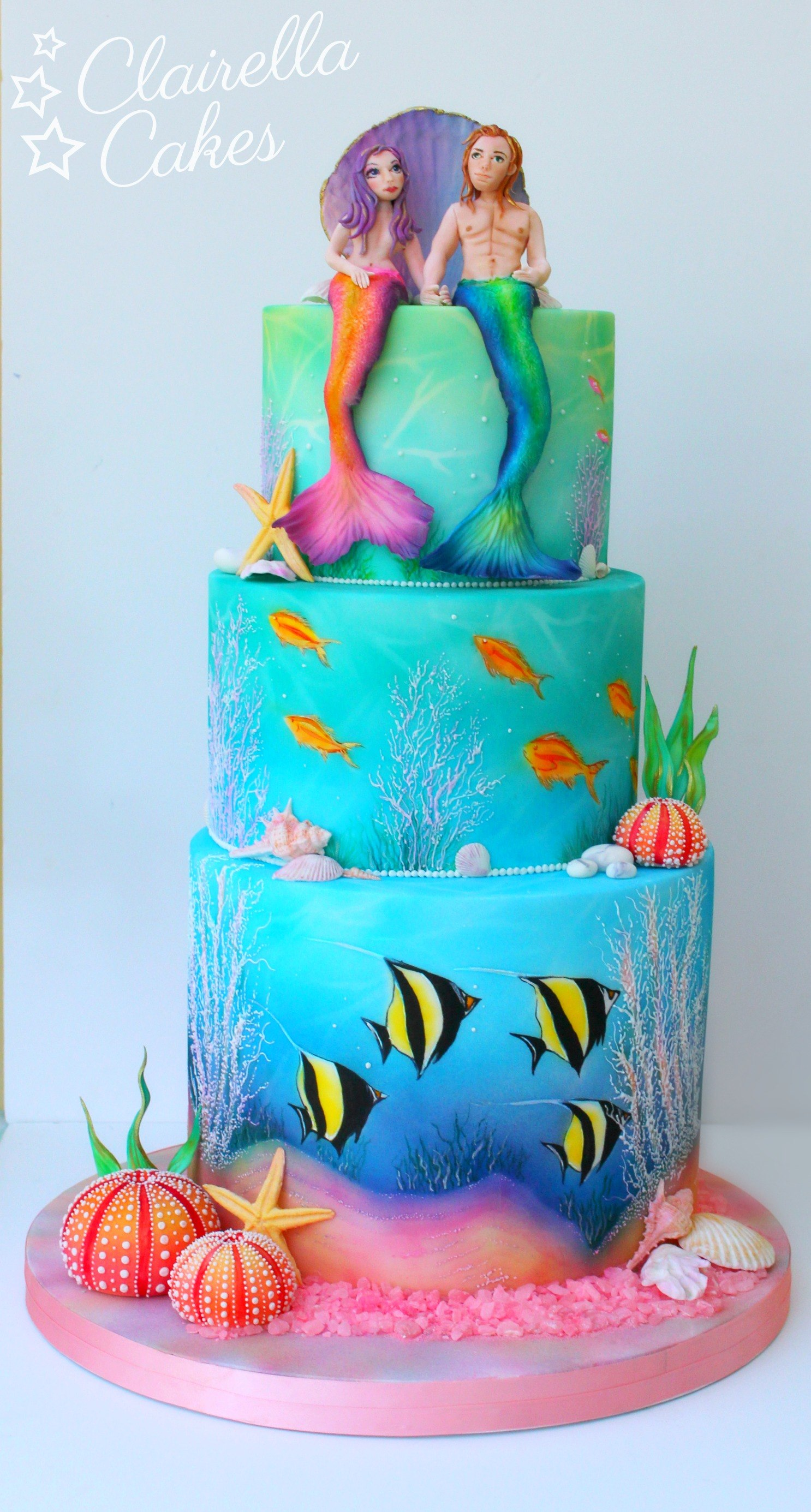 Mermaid Wedding Cake By Claire Anderson