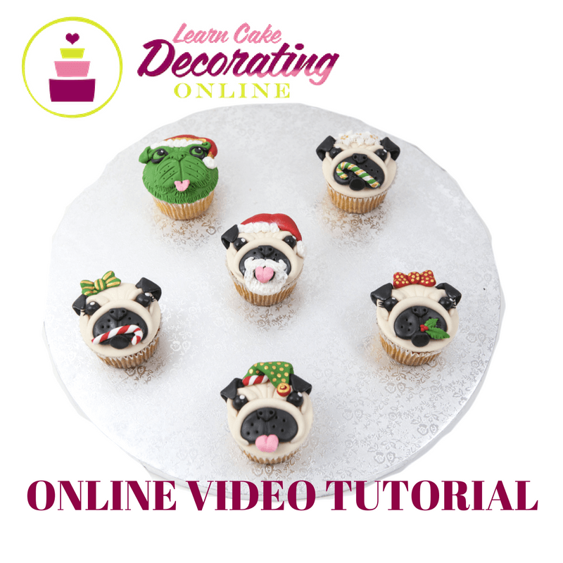 Molly Robbins Christmas Pupcakes Tutorial for Cakerschool
