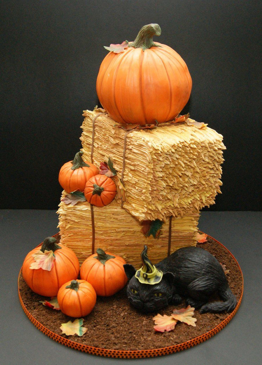 Fall Thanksgiving Cake on Cakerschool