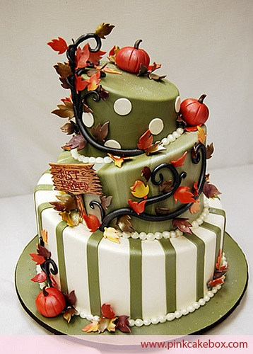 Topsy Turvey Thanksgiving Cake