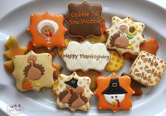 Colorful Mix of Thanksgiving Cakes Cookies