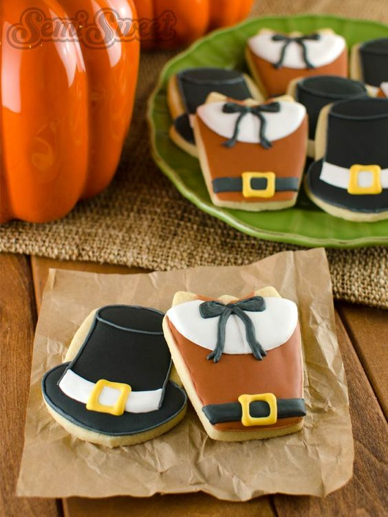 Pilgrim Dress And Hat Cookies