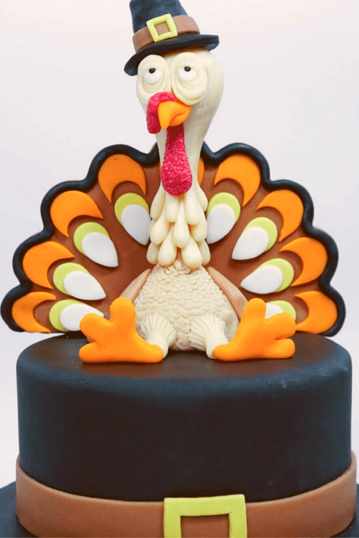 Thanksgiving Turkey Cake Tutorial